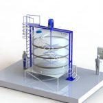 طراحی و مدل مخزن پلی اتیلن میکسر 20 هزار لیتری