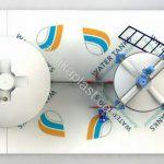 طراحی و مدل میکسر مخزن پلی اتیلن 2000 لیتری