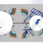 طراحی و مدل میکسر 3000 لیتری ته قیفی