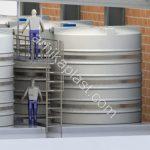 نصب مخازن پلی اتیلن بصورت ظروف مرتبط